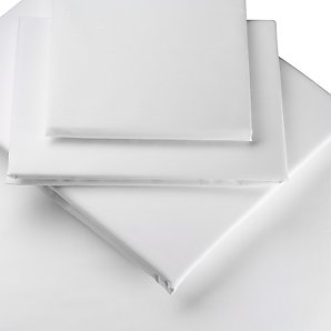 T250 - Luxury Percale Queen Flat Sheets - 92x120 - White