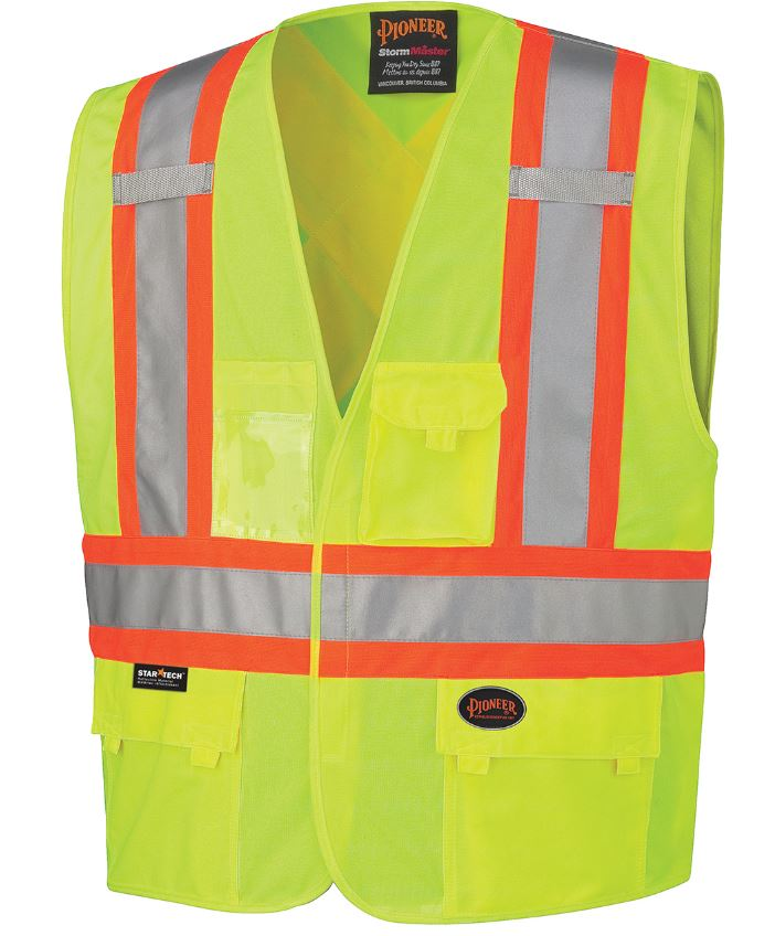 Hi-Vis Safety Vest - V1020250 - Click Image to Close