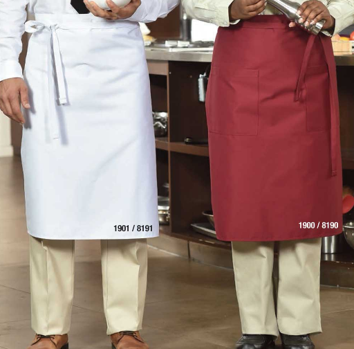 Bistro Aprons, Premium, Long Style, No Pockets - AP1901