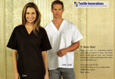 Cook Shirts, Premium, V Neck Style - Poly/Cotton - FS2500