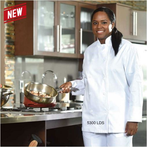 Chef Jacket, Ladies Premium, Double Breasted - #5300LDS