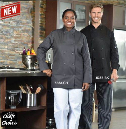Chef Jacket, Premium, Double Breasted - #5353 Charcoal