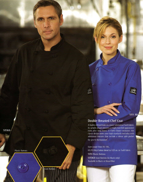 Chef Jacket, Premium, Double Breasted - #5353 Royal Blue