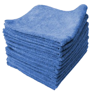 MicroClean Microfiber Economy Cleaning Cloth - 14x14 Blue