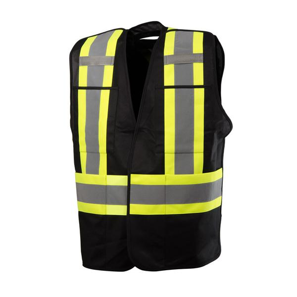 FIVE POINT TEAR-AWAY, 4 POCKET SAFETY VEST- BLACK - SA59L61502​