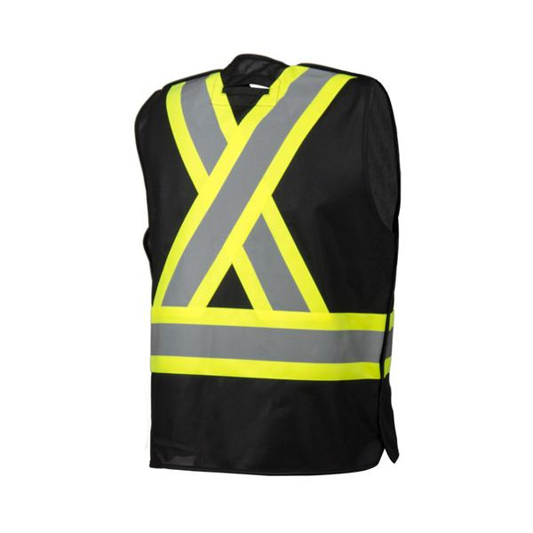 FIVE POINT TEAR-AWAY, 4 POCKET SAFETY VEST- BLACK - SA59L61502​ - Click Image to Close