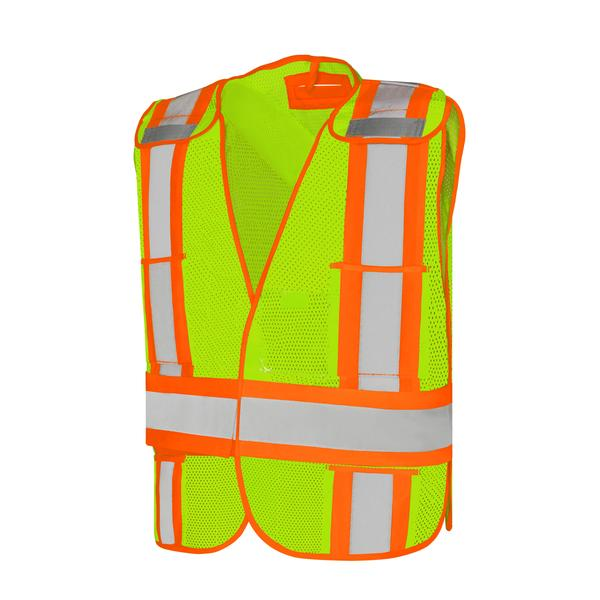 FIVE POINT TEAR-AWAY FIRE SAFETY VEST - UNIVERSAL SIZE - SA59L