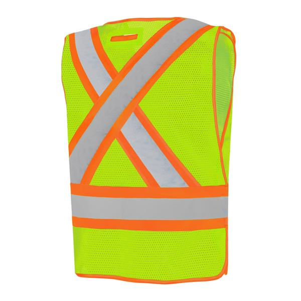 FIVE POINT TEAR-AWAY FIRE SAFETY VEST - UNIVERSAL SIZE - SA59L - Click Image to Close