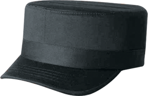 Military Style Chef Hats - Black - 6J360M
