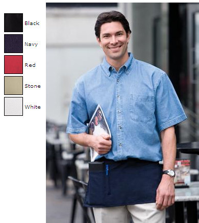 Authentic™ Server Change Apron with 3 Pockets. A101