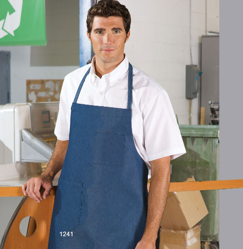 Bib Aprons, Premium, Denim Style, Cotton, 2 Pockets - AP1241