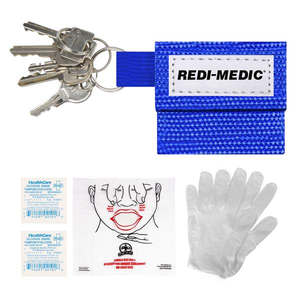 BARRIER MASK KEY HOLDER WITH NON-LATEX GLOVES -  BAR-2