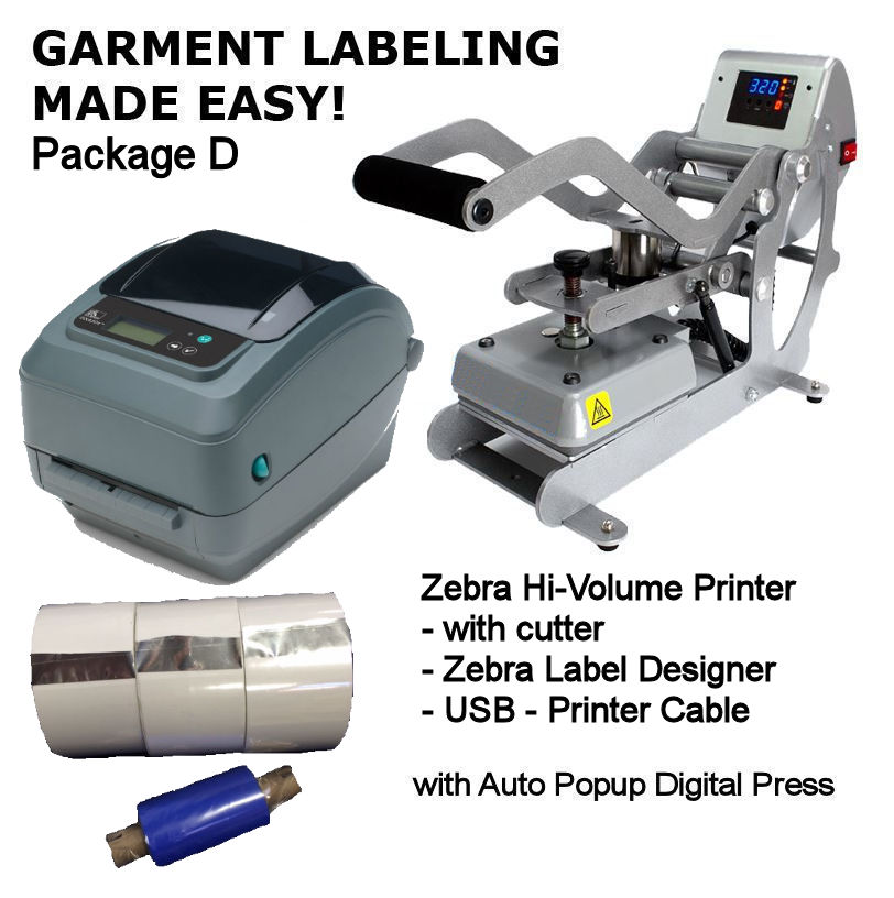 Zebra™ GX43 Garment Labeling Package - Desktop