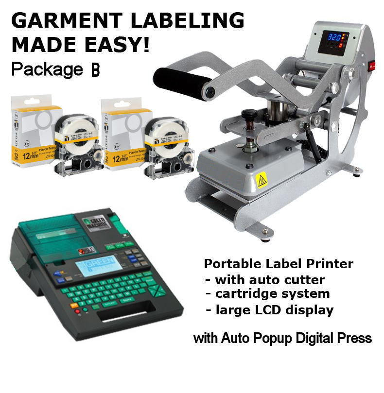 BCTI-Green Machine - Garment Labeling Package - Portable