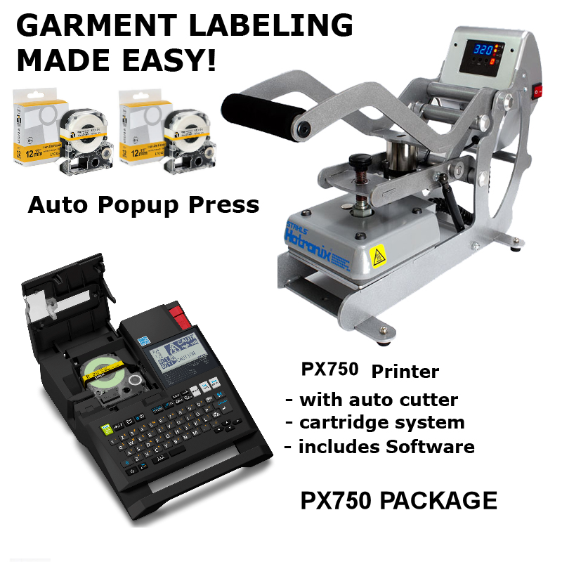 BCTI-PX750 - Garment Labeling Package - Portable