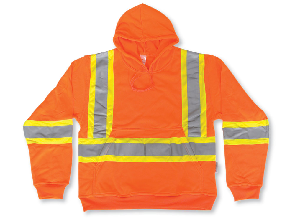 HI-VIS TRAFFIC PULLOVER HOODIE - POLYESTER - SABK3550 - Click Image to Close
