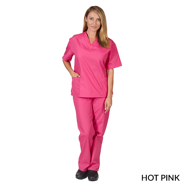 Fashion Two Lower Pocket Scrub Set - SCBP101