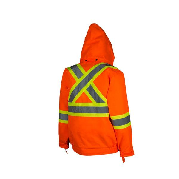 HI-VIS TRAFFIC JACKET WITH DETACHABLE HOOD​ - SAC27118102​ - Click Image to Close
