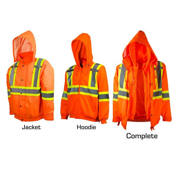 HI-VIS TRAFFIC JACKET AND HOODIE, COMBO PACK​ - SAC28807102