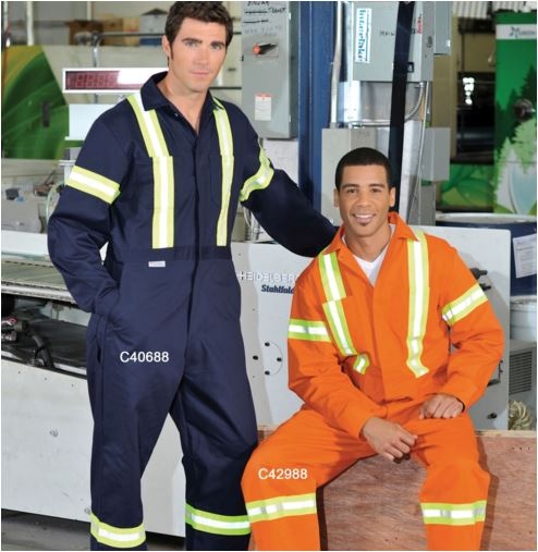 Button Coveralls - Premium Hi-Vis - Cotton - Orange - SAC4298A