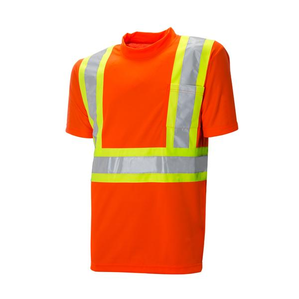 "HI-VIS S/S T-SHIRT - 4"" CONTRASTING TAPE WITH 2 - SAC59128102"