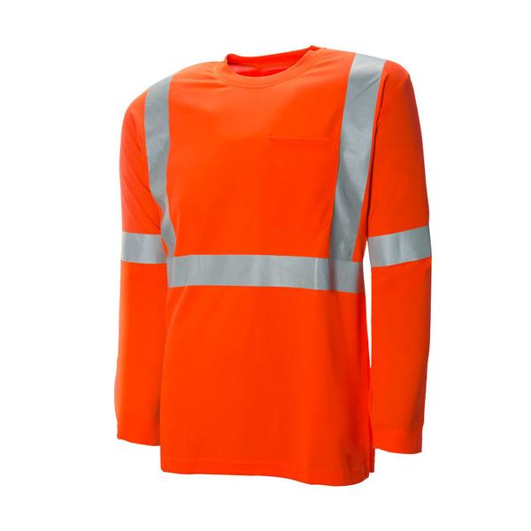 "HI-VIS ECONOMY L/S T-SHIRT WITH 2"" REFLECTIVE TAPE - SAC60127102"
