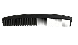"Combs - 5"" Black Plastic, 144/case"