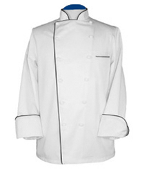 Chef Jacket, XG-Style - Executive with Black Piping