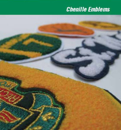 Chenille Embroidered Emblems - Call for Pricing