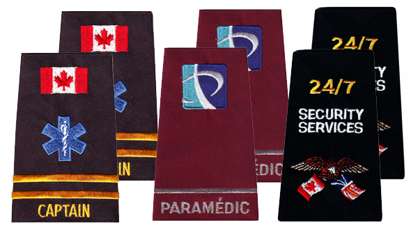 Embroidered Epaulets - Call for Pricing