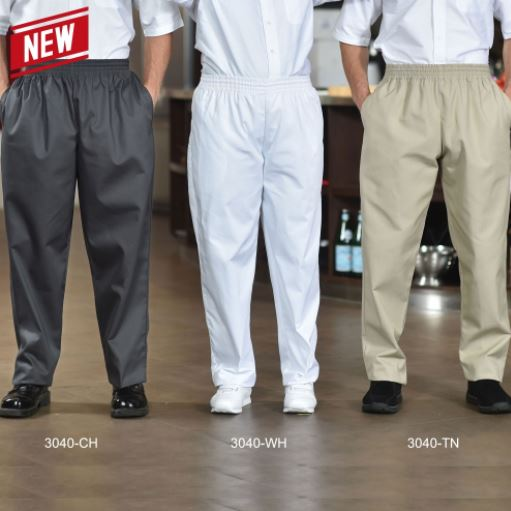 Chef Pants, Poly/Cotton Baggy Style - FS3040