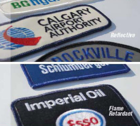 Flame Retardant Embroidered Emblems - Call for Pricing