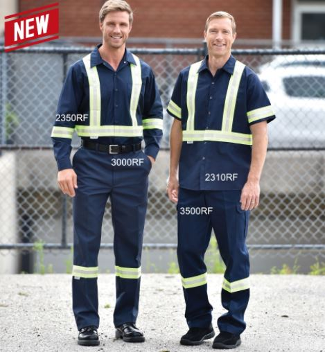 Work Shirts, Hi-Vis Style - No Pockets - Short Sleeve - SA2310RF