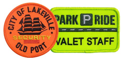 HiVis Embroidered Emblems - Call for Pricing