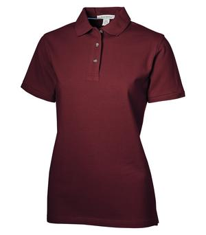 LADIES COTTON POLO SHIRT - CLEARANCE - BURGANDY