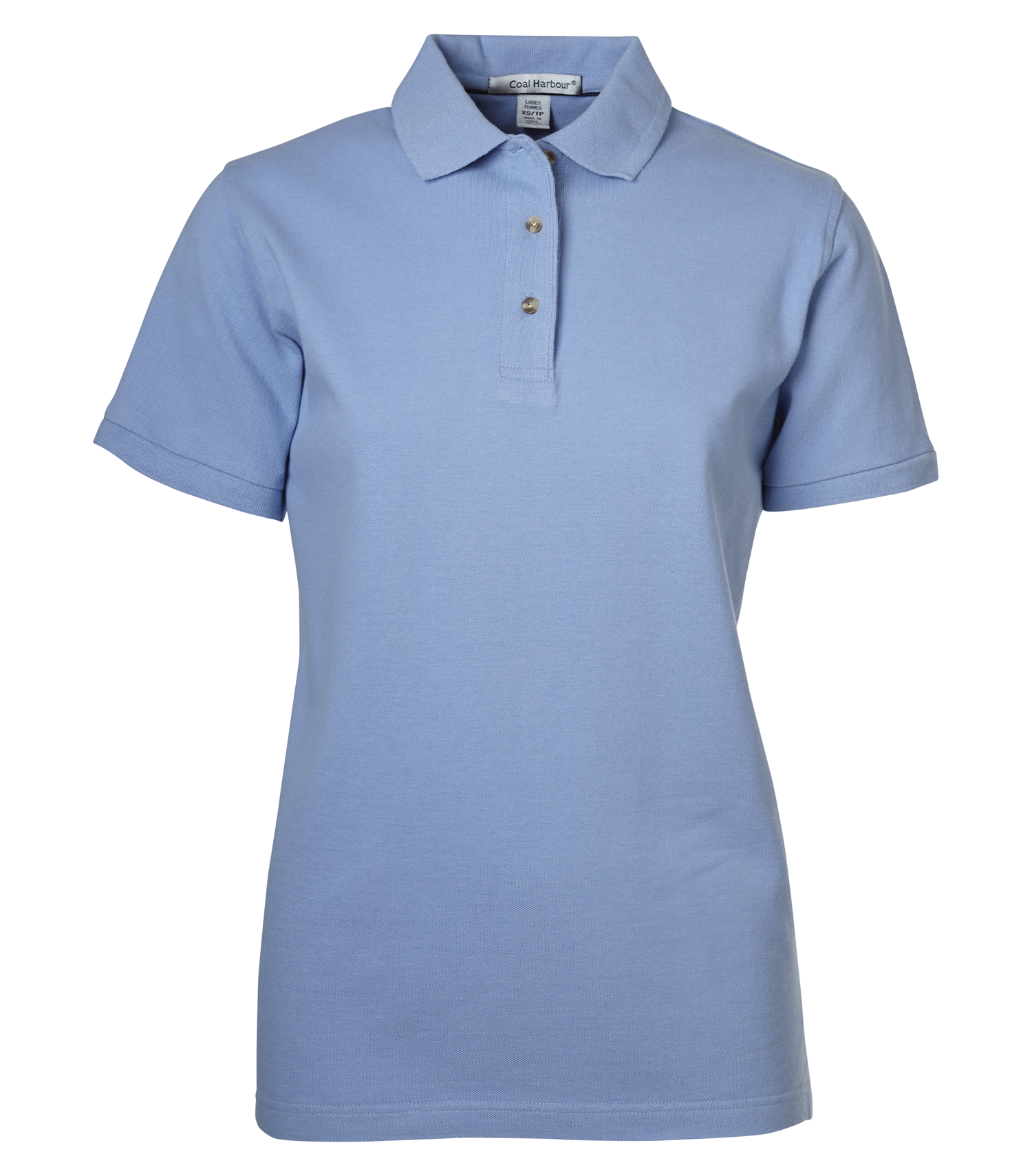 LADIES COTTON POLO SHIRT - CLEARANCE - BLUEBERRY