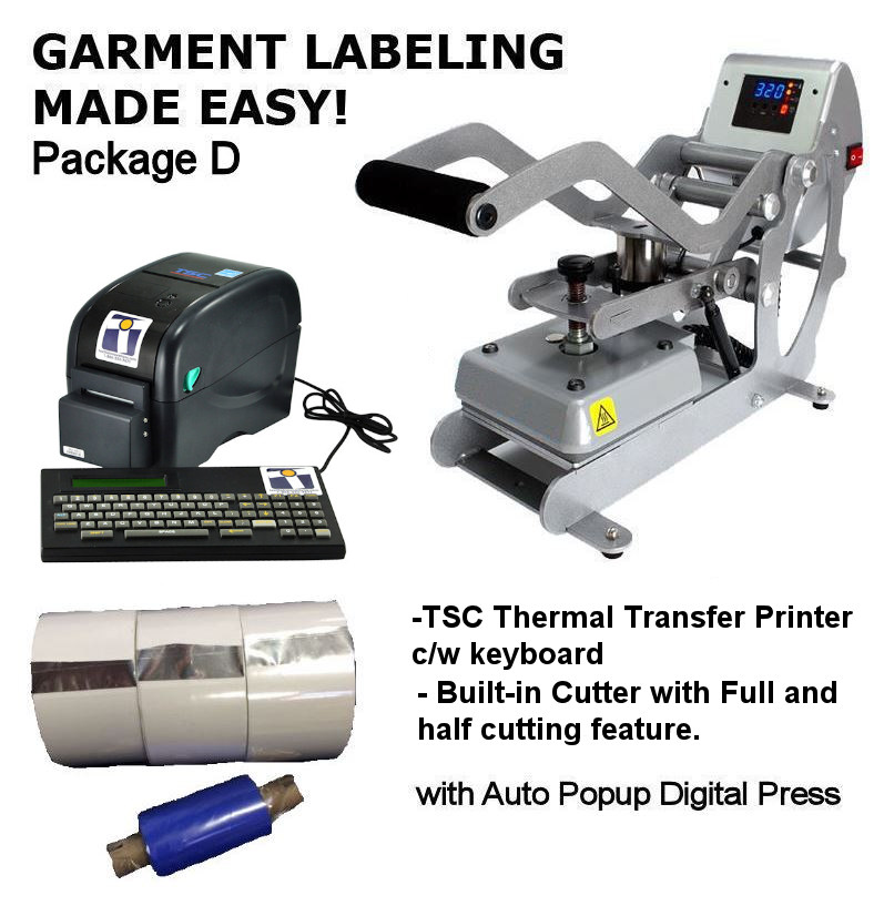 TSC™ TTP225 Garment Labeling Package - with keyboard