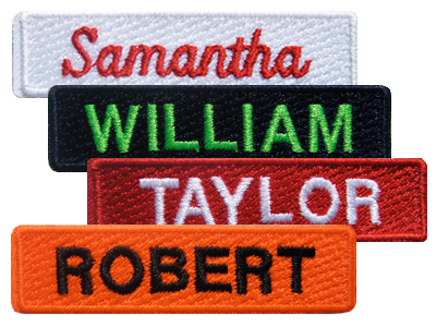 LowProfile Text Embroidered Emblems - Call for Pricing