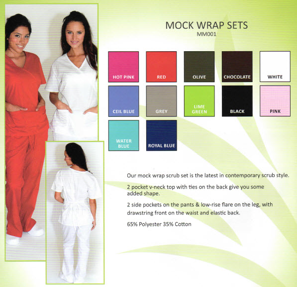 Mock Wrap Scrub Sets - MM001