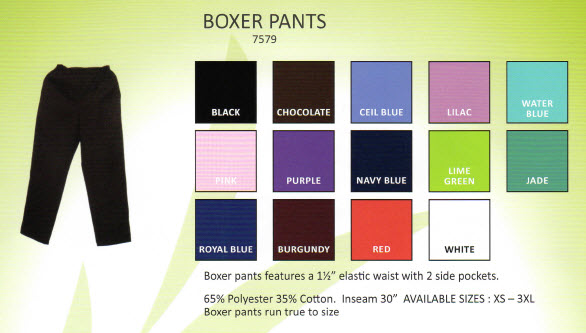 Fashion Boxer Style Ladies Scrub Pants - MM7579 - Click Image to Close