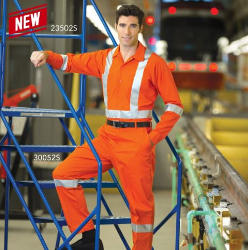 Premium Style - Orange Hi-Vis Work Pants - SA30052S