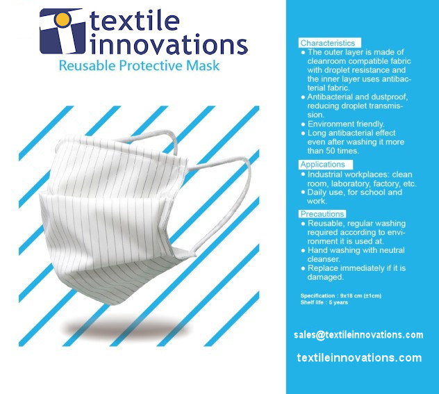 Surgical Mask, Reusable, Microfiber Barrier