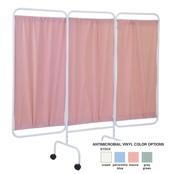 Privacy Screen - Anti-Microbial With Castors - PSS-3CAML