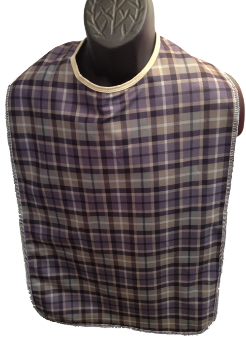 Adult Clothing Protector - 18x38 Rabbit Ear - Mauve Plaid