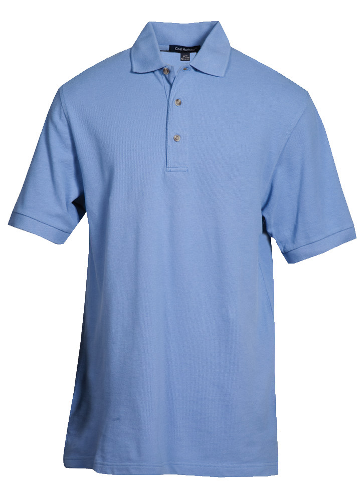 MEN'S COTTON POLO SHIRT - CLEARANCE - BLUEBERRY