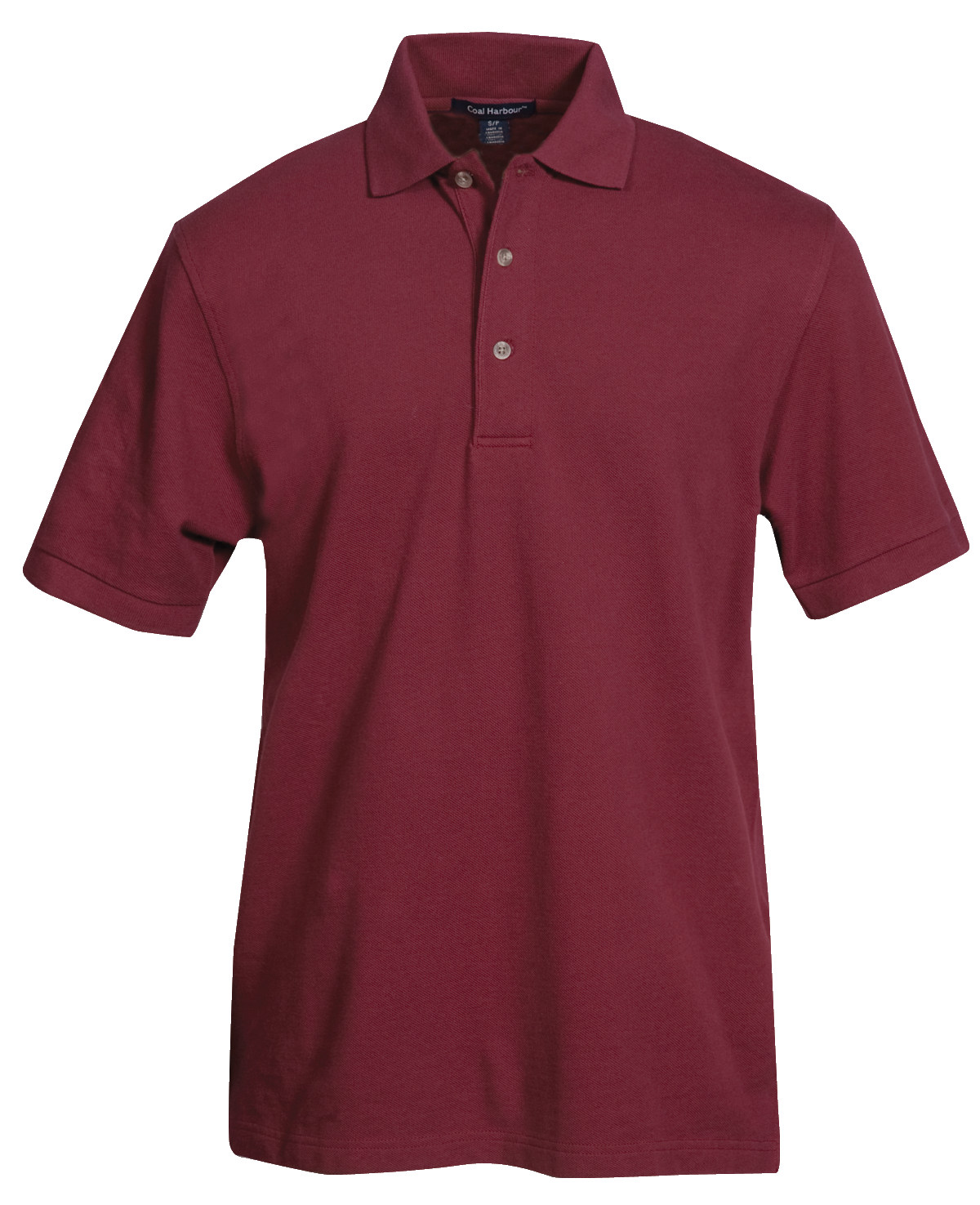 MEN'S COTTON POLO SHIRT - CLEARANCE - BURGANDY