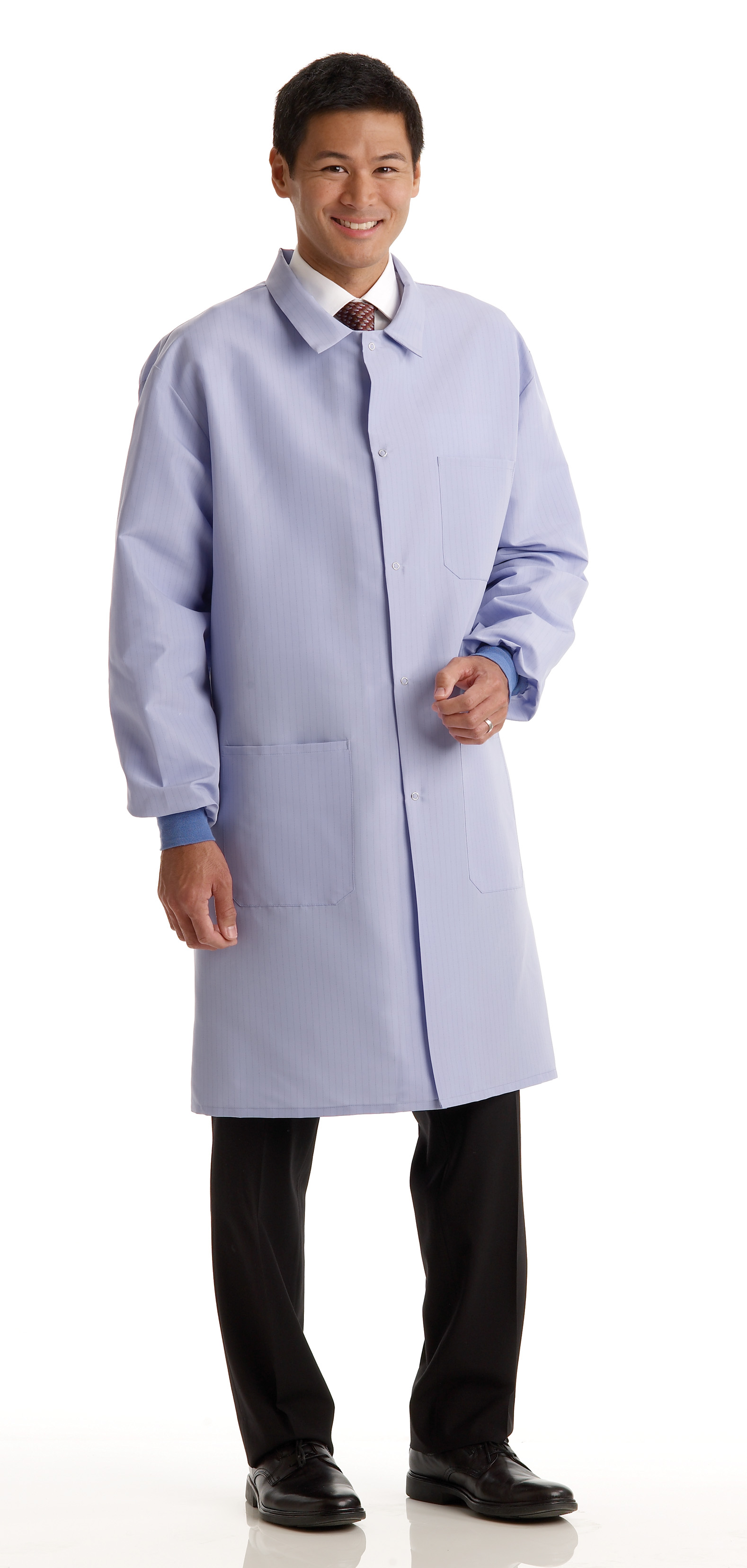 Unisex Barrier Lab Coat - Snap Closure - Ciel Blue