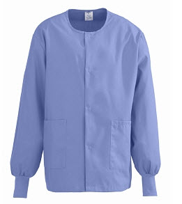 Clearance - Warmup Jackets - Snap Front, Ciel Blue