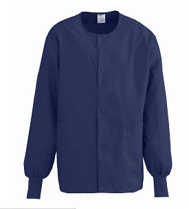 Clearance - Warmup Jackets - Snap Front, Navy