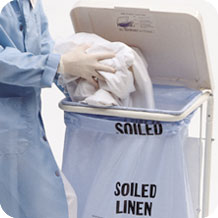 "Plastic Soiled Linen Bags - 30x38"" - Printed Soiled Linen - Click Image to Close"